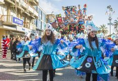 Carnival of Viareggio Stock Images