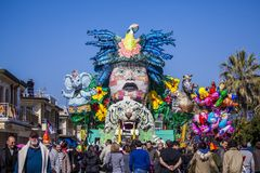 Carnival of Viareggio Stock Photos