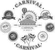 Carnival vintage badges Stock Photography