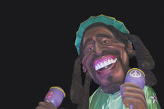 Carnival wagon with Bob Marley Royalty Free Stock Photography