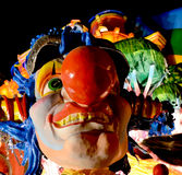 Carnival. Wagon with papier-mâché caricatures of royalty free stock photo