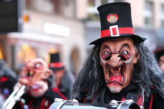 Carnival Wizard with Top Hat. Masked carnival Wizard with Top Hat at Fasnacht Stock Photo
