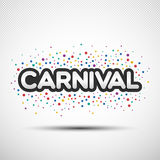 Carnival word with coloured round confetti Stock Photo