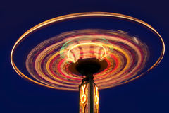 Carnival yoyo wheel. In the motion in night time Stock Photography