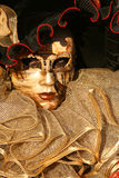 Carnevale Mask Close Up. A Carnevale Masquerade costume from Carnevale 2009 in Venice, Italy Royalty Free Stock Image
