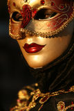 Carnevale Mask Close Up. A Carnevale Masquerade costume from Carnevale 2009 in Venice, Italy Royalty Free Stock Photos