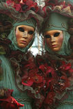 Carnevale Masquerade Close Up. A pair of Carnevale Masquerade costumes from Carnevale 2009 in Venice, Italy Stock Photo