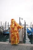 Carnivale Schablone im Venedig Italien Stockfotografie