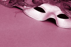 CarnivalMask Sepia royalty free stock photos