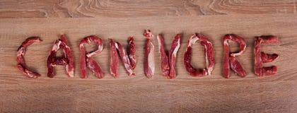 Carnivore dieta, zero carb, zdrowy jedzenie zdjęcie stock