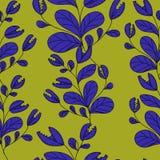 Carnivorous plant blue color stock illustration