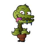 Carnivorous plant cartoon Stock Image