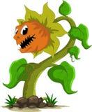 Carnivorous växttecknad film royaltyfri illustrationer