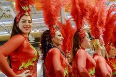 Carnivsl dancers from the group La Sal de Torrevieja Stock Image