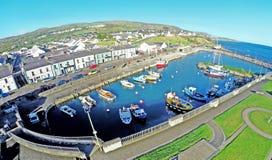 Carnlough港口安特里姆郡北爱尔兰 库存照片