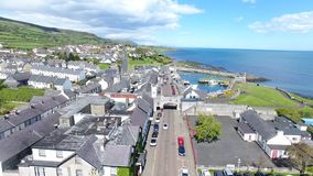 Carnlough Harbour Glencloy, Co. Antrim Northern Ireland. Carnlough Harbour Glencloy, Co. Antrim Coastline Northern Ireland stock image