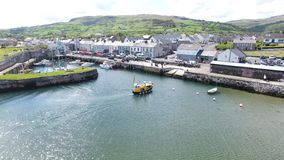 Carnlough Harbour Glencloy, Co. Antrim Northern Ireland. Carnlough Harbour Glencloy, Co. Antrim Coastline Northern Ireland royalty free stock photos