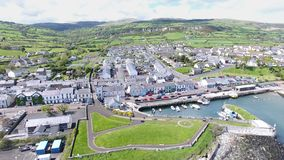 Carnlough Harbour Glencloy, Co. Antrim Northern Ireland. Carnlough Harbour Glencloy, Co. Antrim Coastline Northern Ireland stock photo