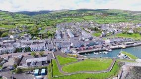 Carnlough schronienia wioski Glencloy roztoki Północne Antrim - Ireland zdjęcie wideo