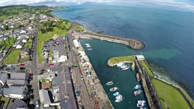 Carnlough Village,. Glencloy, Co. Antrim Glens of Antrim Northern Ireland royalty free stock photography