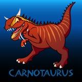Carnotaurus cute character dinosaurs Stock Images