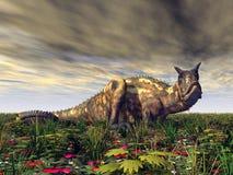 Carnotaurus de dinosaure Photographie stock libre de droits