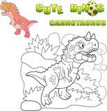 Carnotaurus prehistórico depredador del dinosaurio, ejemplo divertido ilustración del vector