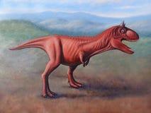 Carnotaurus sastrei painting stock photos