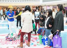 Carnvial γεγονός Χριστουγέννων στο plaza πόλεων μετρό Στοκ εικόνες με δικαίωμα ελεύθερης χρήσης