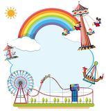 Carnvial fun fair border concept stock illustration