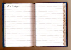Caro Diary immagini stock libere da diritti