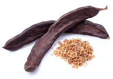 Carob fruit Stock Photos