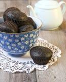 Carob muffins Stock Photography