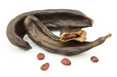 Carob pods royalty free stock photo