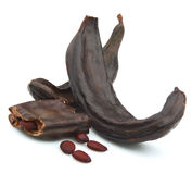 Carob pods Royalty Free Stock Photos