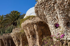 Carobs Viaduct, Park Guell Royalty Free Stock Photo