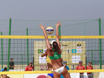 Carol,beautiful brasil beach volleyball player Royalty Free Stock Photography