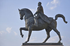 Carol I equestrian statue. The equestrian statue of Carol I, first king of Romania, located in front of the Central Library, near Revolutionary Square. Carol I Royalty Free Stock Image