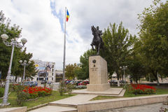 Carol I statue. Carol the First  statue from the central park in Calarasi city, Romania Royalty Free Stock Photo