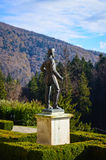 Carol I statue at Peles castle Stock Photo