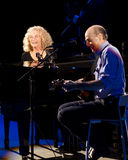 Carol King and James Taylor in Concert Royalty Free Stock Image
