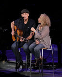 Carol King and James Taylor in Concert Stock Photos