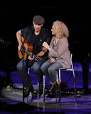 Carol King and James Taylor in Concert Stock Images