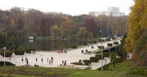 Carol Park Bucharest. View from Carol Park Bucharest with Parliament Palace Building Royalty Free Stock Photography