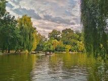 Carol Park i Bucharest, Rumänien royaltyfri fotografi