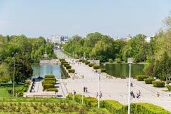 Carol park Lub swoboda park W Bucharest (Parcul Kolędowy sau Parcul Libertatii) fotografia royalty free