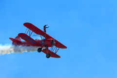 Carol Pilon Wing Walker Royaltyfri Foto