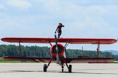 Carol Pilon Wing Walker Stock Image