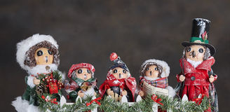 Carol Singers ornaments stock photography