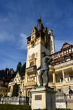 Carol statues Peles castle Sinaia Stock Photo